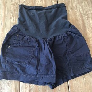 Motherhood maternity navy shorts